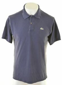 LACOSTE-Mens-Polo-Shirt-Size-5-Medium-Navy-Blue-Cotton-AW37