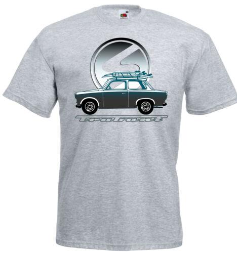 Grau //Weiß S-5XL Trabant Auto IFA DDR Ostkult Car Logo Camping T-Shirt Schwarz