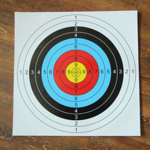 Useful Archery Target Paper Face For Arrow Bow Shooting Hunting Practice X10