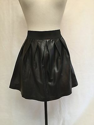 WOMEN'S SAS BLACK LEATHER MINI SKIRT- SIZE 2