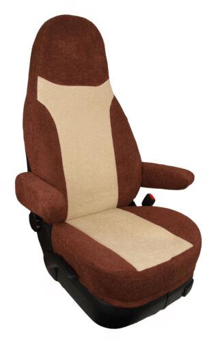 Wohnmobil Sitzbezuege Schonbezüge mit Armlehnenbezüge FROTTEE beige Espresso