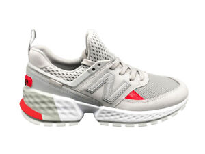 new arrival 1e4a9 c164e Details about New Balance Sneakers 574 Grey Orange White
