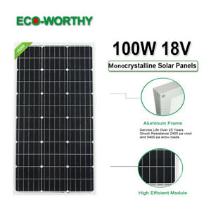 ECO-100W-12V-Solar-Panel-Battery-Power-Charge-for-RV-Boat-Home-Camping-Garden