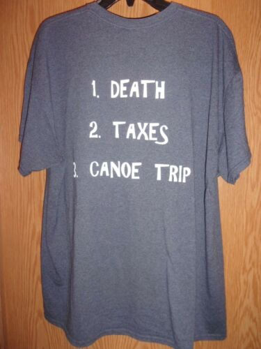 Canoe Death taxes gray XL Canoe t shirt