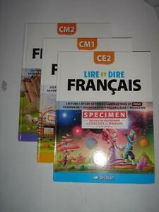 Details About 77 Lot Lire Et Dire Manuel Francais Ce2 Cm1 Cm2 Lecture Grammaire Sedrap New
