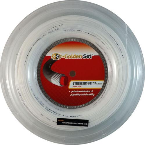 GSI Synthetic Gut 17 white tennis string - 660' Reel