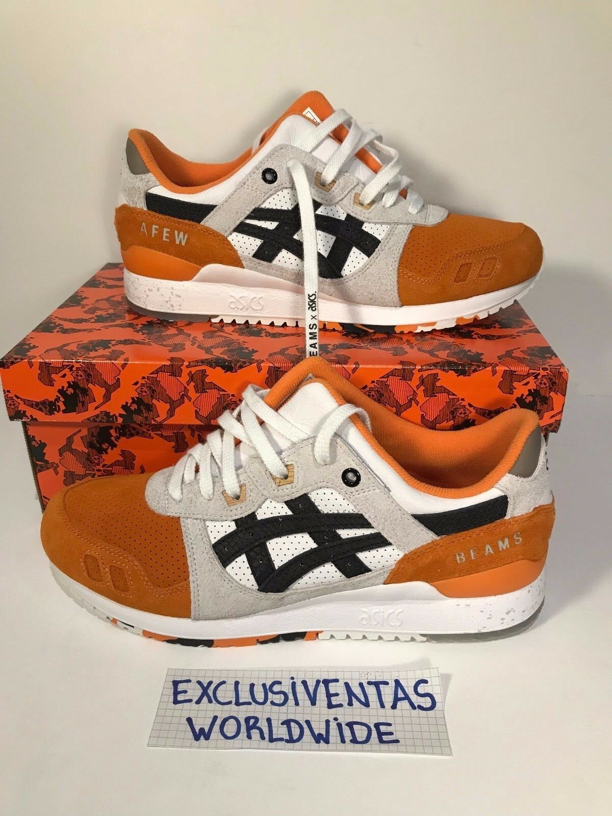 Asics x BEAMS x Afew gel lyte 3 orange Koi DSWT US 7   11 (UK  6   10)