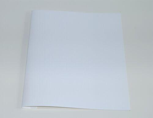 5 mm Bindemappen für Ösengeräte DUO20//35 satinierte Lederstruktur Farbe grau