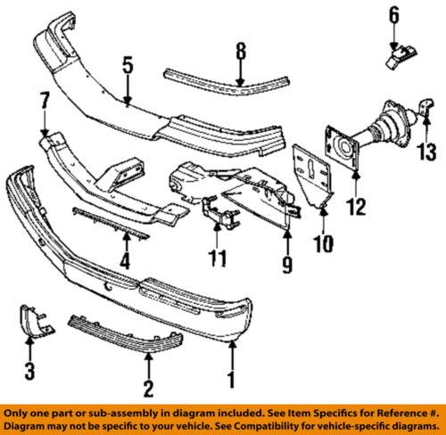 Cadillac GM OEM 93-96 Fleetwood Front Bumper-Rub Strip Right 10156794