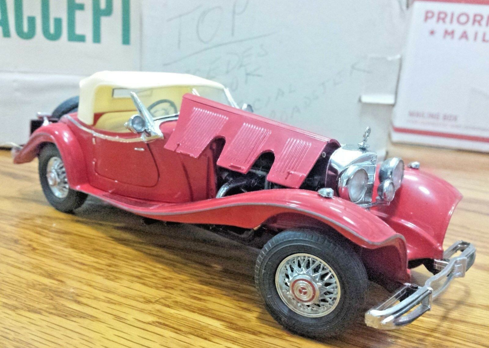 FRANKLIN Comme neuf Mercedes Benz 1935 500K SPECIAL ROADSTER 1  24 Scale Die Cast A53  limite acheter