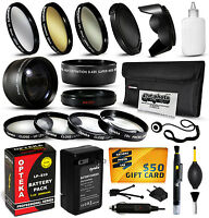 Battery Charger Accessories 58mm Filters F Canon Rebel T3 T5 Eos 1100d 1200d X50