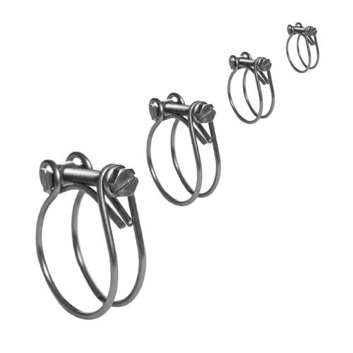 Radiator Inlet Breather Car Quality Two Wire Clips Double Wire Hose Clamps