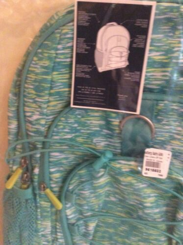 Water Bottle teen college school Girl blue NEW $92 Pottery barn Large Backpack