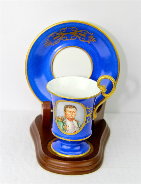 DRESDEN NAPOLEONIC AMAZING QUALITY SUPER RARE Porcelain CUP & SAUCER