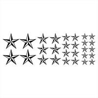 Star Nautical Style Set Of 28 Stars Vinyl Decals Stickers Wow