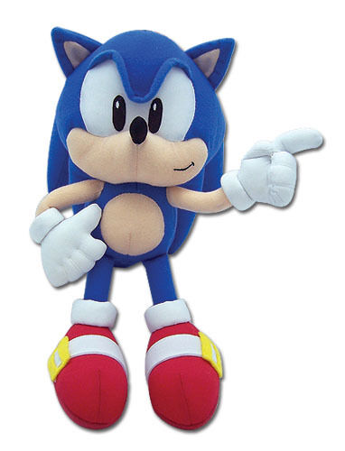 """REAL AUTHENTIC NEW GE  Classic Sonic The Hedgehog 8/"""" Stuffed Plush Doll GE-7088!"""