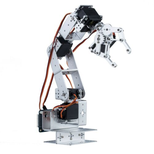 Body Only, Arduino Ctrl, USA Robotics Arm with claw Robot Arm Clamp Set 6 DOF