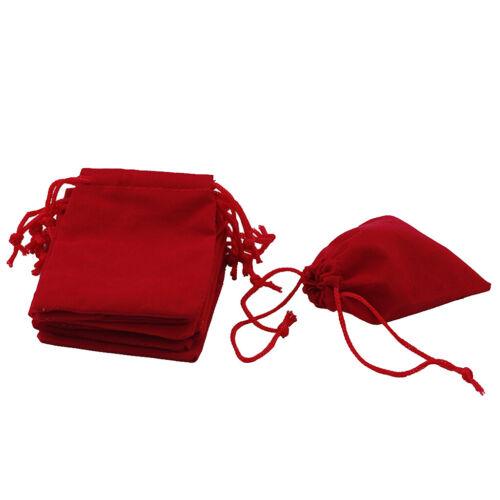 Paquet Velours Cordon Sac Cadeau Sac Pochette De Bijoux Faveur De 50 Pièces