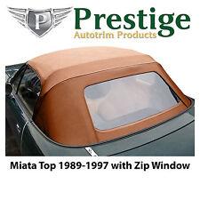 Mazda Miata Na Tan Convertible Top Soft Top Roof Zippered Rear Window 1989 97 Fits Mazda Miata