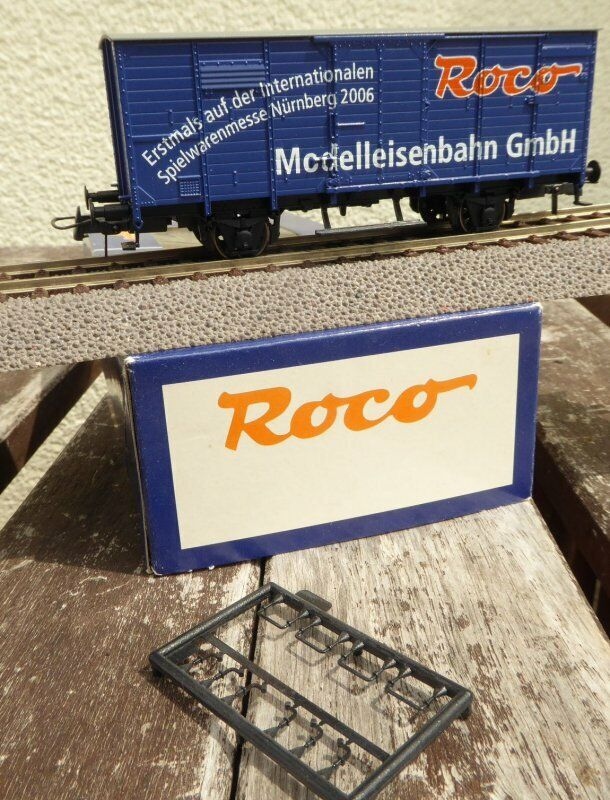 Roco Freight Car Closed spielwarenmesse nürnberg 2006 with adgreenising, rare