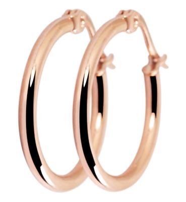 Titanium Titan Ohrhänger Ohrringe Klapp Creolen Kreolen dünne Damen vergoldet 60