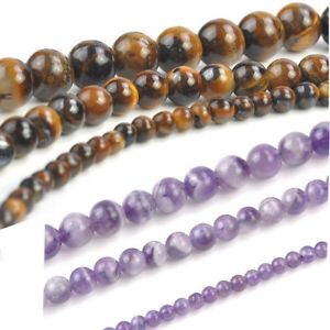 4-6-8mm-Natural-Tiger-039-s-Eye-Amethyst-Gemstone-Round-Beads-for-DIY-Jewelry-15-5-034