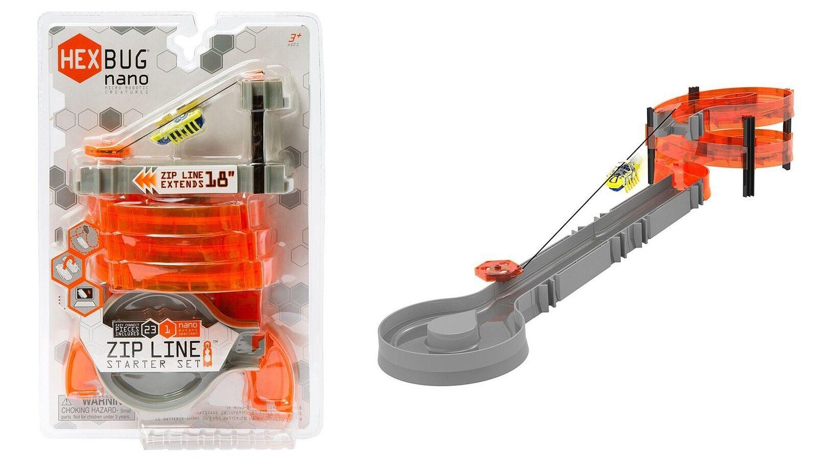 Hex Bug Roboter Nano Zip-Line Starter Set Nano Hexbug Spielroboter Krabbelkäfer