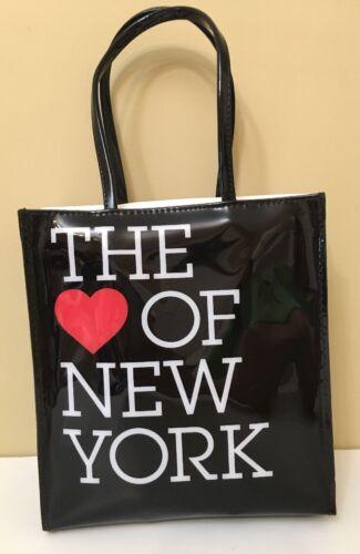 BLOOMINGDALES NEW YORK Black Heart Of New York Case HandBag Purse NWT Tote