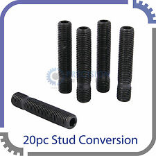 20pc 50mm Extended Wheel Stud Conversion | 14x1.5 to 14x1.5 | Screw Adapter Kit