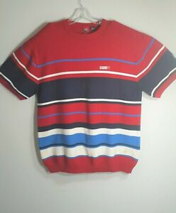 Enyce-Men-Shirt-Size-XL-Red-Blue-White-Short-Sleeve-Round-Neck-Pull-Over