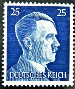 WW2 REAL NAZI 3rd REICH ERA GERMAN STAMP ADOLF HITLER REICHSKANZLER 25rf MNH