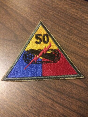 "US Army 50th Armored Division ""Jersey Blues"" Patch"