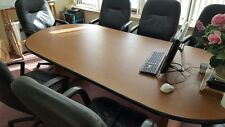 60 Off Large Office Conference Table Cherry With Black Edge Strip Last Uni