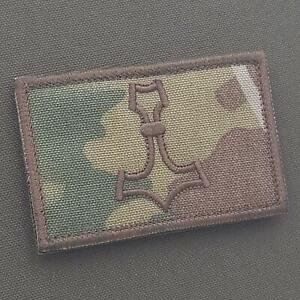 thor hammer mjolnir 2x3 25 multicam OCP embroidered viking norse patch