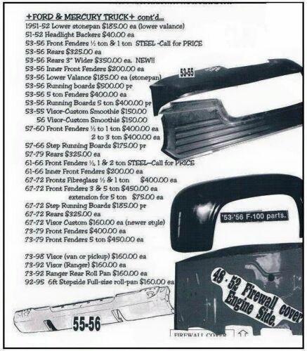67-72 Ford Mercury Pickup SHOWCARS Step Running Boards FM93