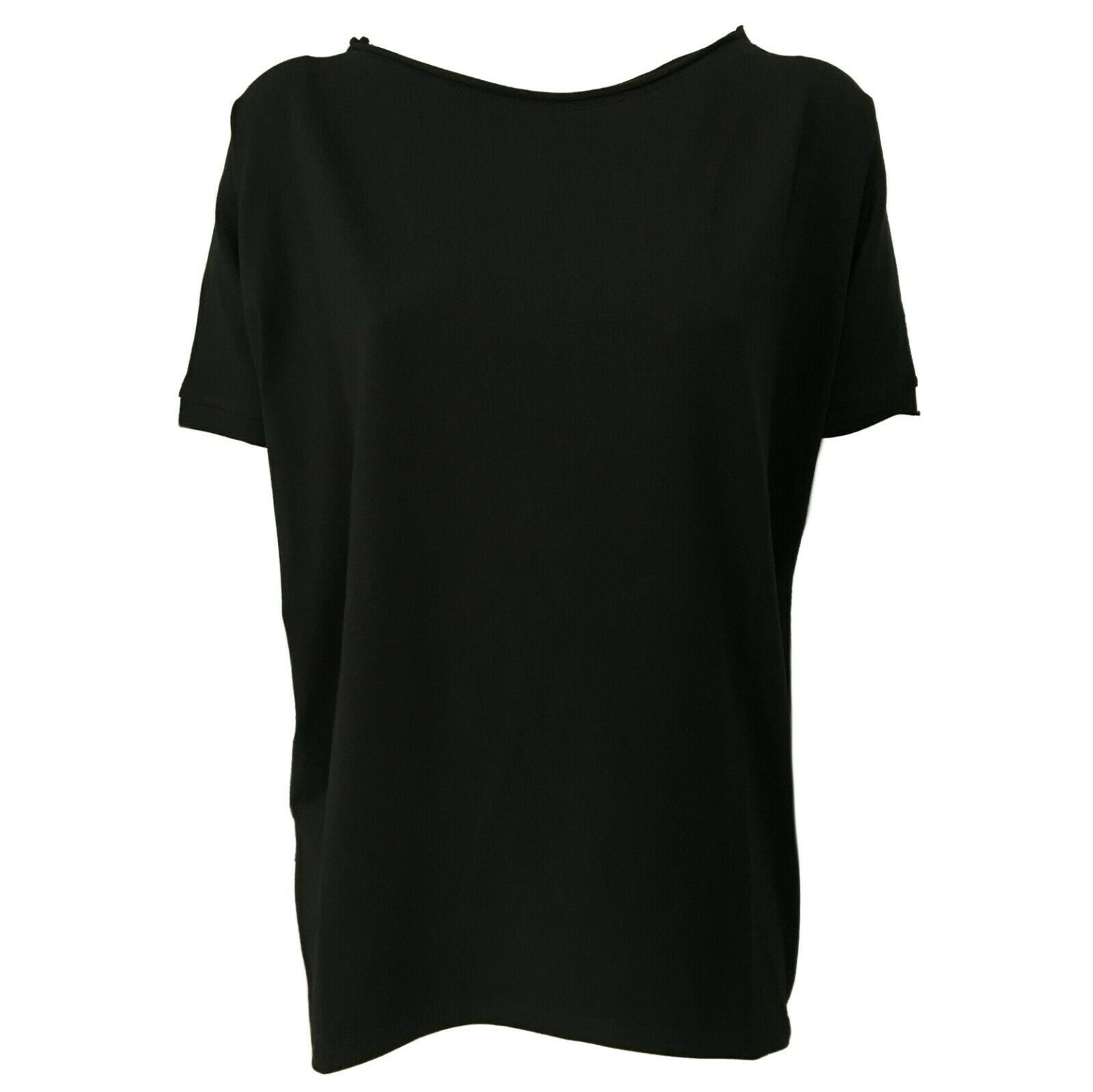 Maxi T-Shirt Femme Coton schwarz Manches Courtes Neirami Article B01 Made IN