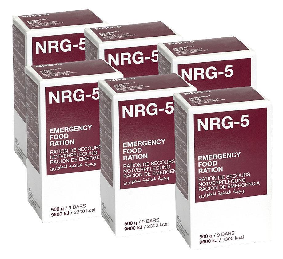 Nrg-5 razione K, uso a lungo termine, vitto, 6x500g