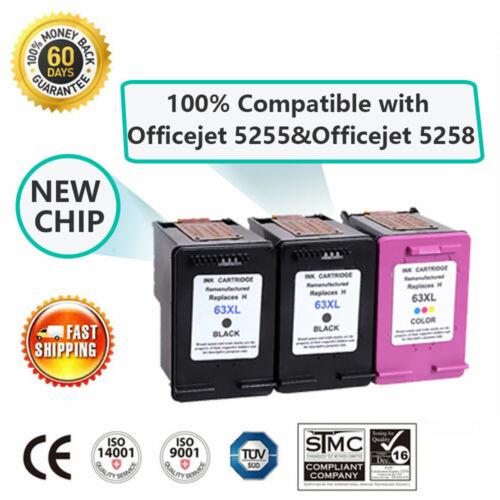 #63XL 63 XL Ink Cartridge for HP Envy 4512 4516 4520 4522 OfficeJet 3830 4655