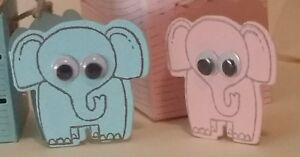 Hand-stamped-Baby-girl-boy-034-Elephant-cards-gift-tag-039-s-Pk-of-20-30-40-50