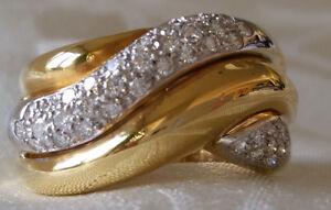Diamond Women's Ring Made Of Gold With Diamonds A2275 750 Monetary Gold Elegant Shape