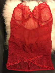 Image is loading Agent-Provocateur-Stunning-Red-Love-Slip-BNWT cb0f05e50