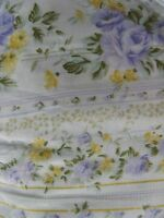 Jc Penny Home King Bedskirt Lavender Yellow Ivory Floral Shabby Cottage Chic B6