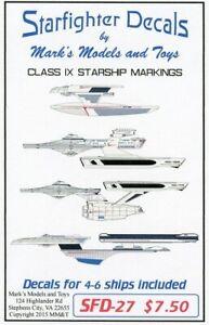 Starfighter-Decals-27-x-Star-Trek-Class-IX-Starship-Markings-for-4-to-6-Ships