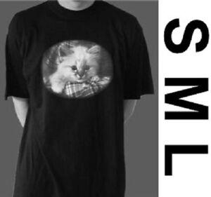 Chats t-shirt chat cat rétro design noir blanc 100% coton s m l 170 176-afficher le titre d`origine m2D0I488-07190012-891538451