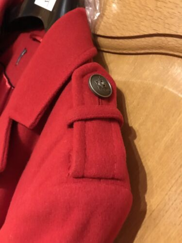 New militaire simple Uk poitrine de 14 rouge manteau MarksSpencer style à 0wknO8P