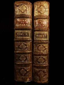 1720-1st-ed-Robinson-Crusoe-Daniel-Defoe-Voyages-Illustrated-Shipwreck-2v-French