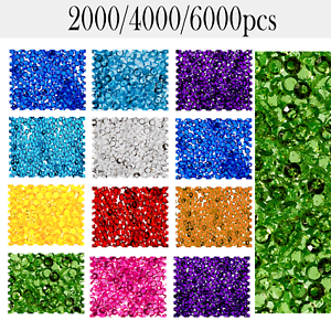 6000 Mixed Wedding Party Scatter Table Crystal Diamond Confetti Sparkly Beads UK