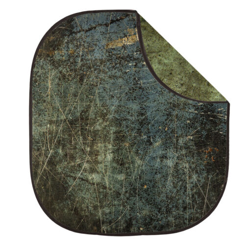 2x2.3m doble doble cara con textura de gravedad Vintage Plegable fondos Oliva