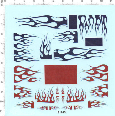 Decals FLAME for different scales 5207
