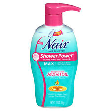 Nair Hair Remover Shower Power Max Moroccan Argan Oil 13 Oz No Sponge Included.